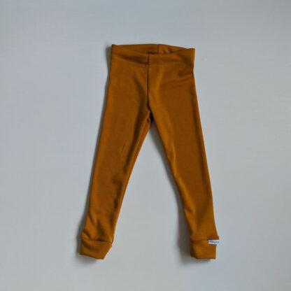 Detské merino nohavice Jablonec - horčicová