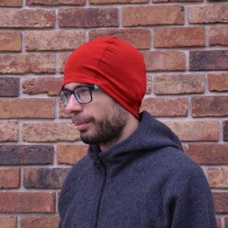 merino čiapka Kremenec červená