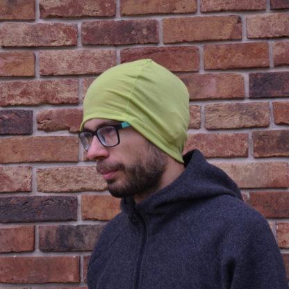merino čiapka Kremenec limetková zelená
