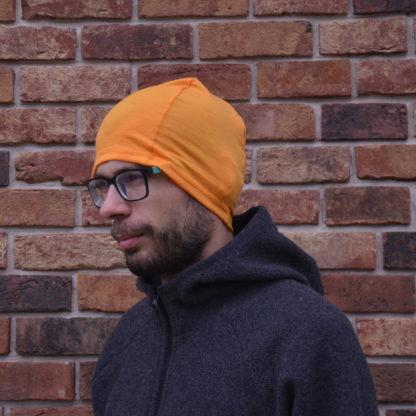 merino čiapka Kremenec oranžovožltá