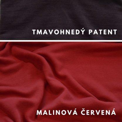 Malinová červená - tmavohnedý patent