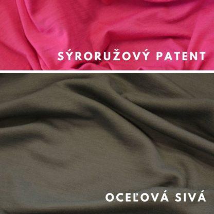 Merino Oceľová sivá - sýtoružový patent