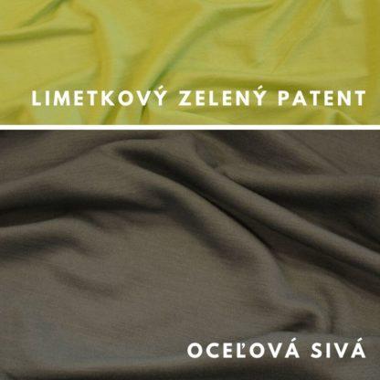 Merino Oceľová sivá - limetkový zelený patent