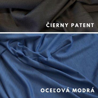 Oceľová modrá - čierny patent