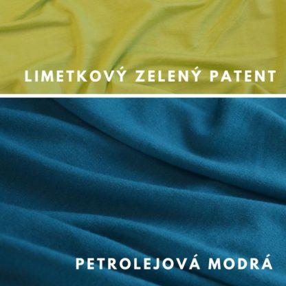 Petrolejová modrá - Limetkový zelený patent