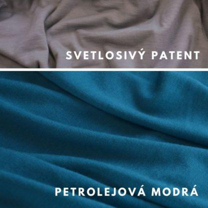 Merino Petrolejová modrá - svetlosivý patent