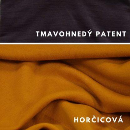Merino Horčicová - tmavohnedý patent