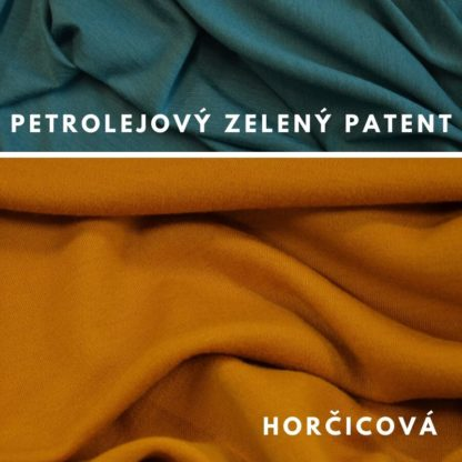 Mewrino Horčicová - petrolejovo zelený patent