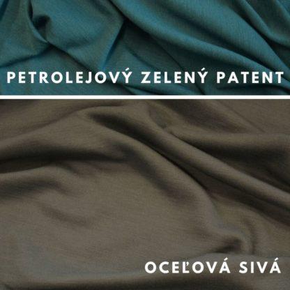Merino Oceľová sivá - petrolejovo zelený patent