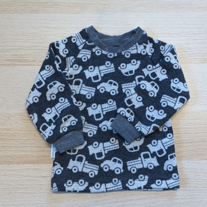 Autíčkové tričko pre chlapcov z merina
