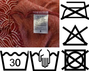 udrzba merina - pracie symboly