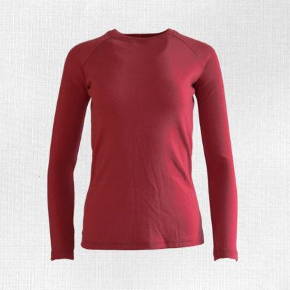 Dámske teplé merino tričko Lehota - malinová červená