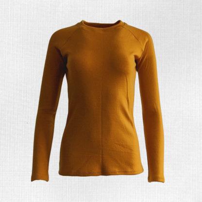 Dámske merino tričko Lehota - horčicová