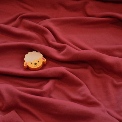 merino vlna malinova cervena