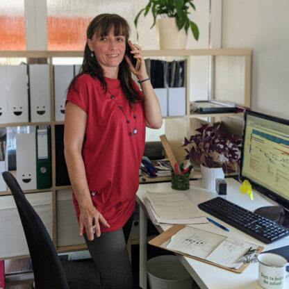 Univerzálne tričko pre dámy z merino vlny červené