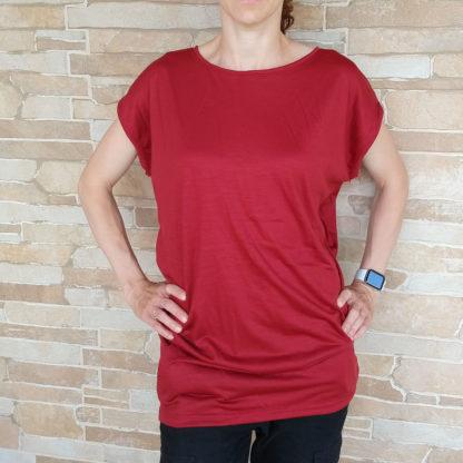 Pohodlné oversized tričko z merina pre dámy