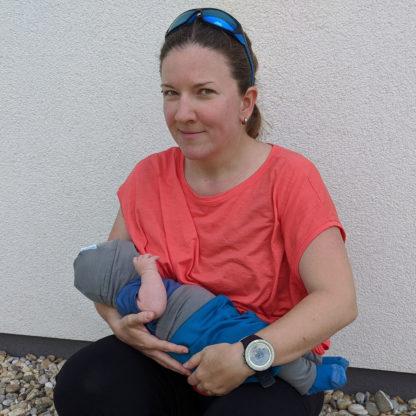 Hladké merino tričko na dojčenie lososové