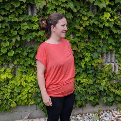 Dámske funkčné merino tričko - lososová