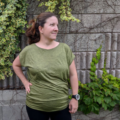 Ležérne oversized tričko z merino vlny