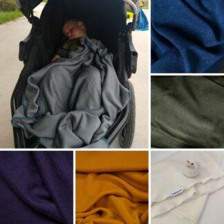 Detská deka z merino vlny do kočíka