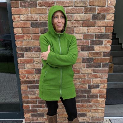Dámska merino mikina Babica zelená