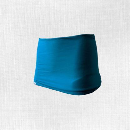 Bedrový pás z merino vlny Križiak - tyrkysová modrá