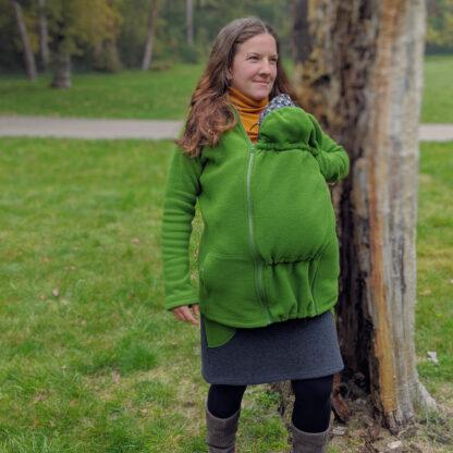 Dámska bunda na nosenie detí s merino vlnou