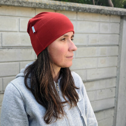 dámska merino čiapka červená