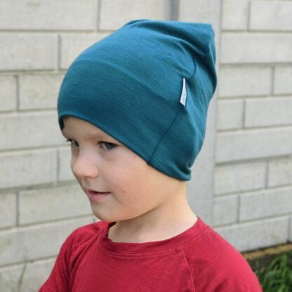hrejivá detská čiapka z merina