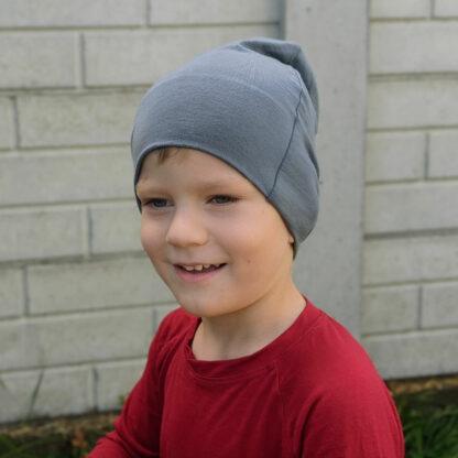 Elastická čiapka z merino vlny pre deti