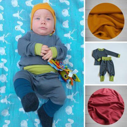 Detský nastavitelný termo set pre bábätká z merina