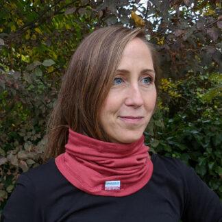 Merino nákrčník Okruhliak - malinová červená