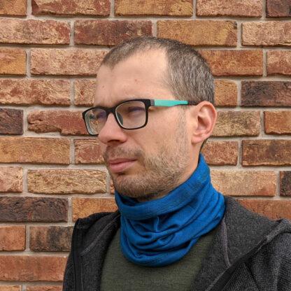 Merino nákrčník - petrolejová modrá