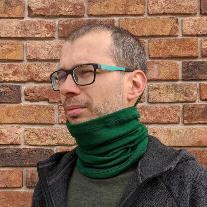 Merino nákrčník Okruhliak - zelená