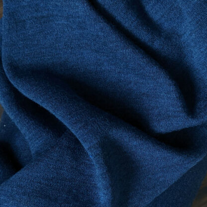Merino 100% - jeans modrý melír 250g