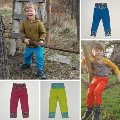 Detské softshell merino nohavice Mlynky