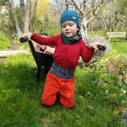 Merino softshell nohavice detské
