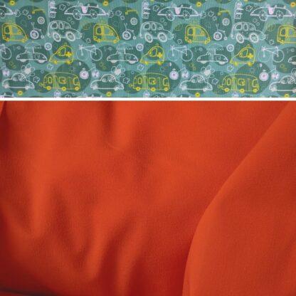 Merino softshell nohavice oranžová - auto karavan