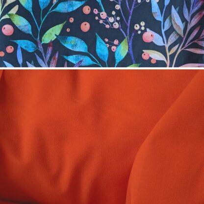 Merino softshell orazová - kvety