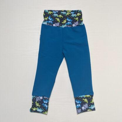Detské softshell nohavice s merinom - modrá - autá