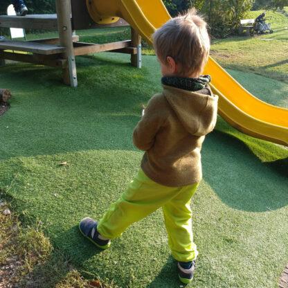 Detské softshellové nohavice s merinom