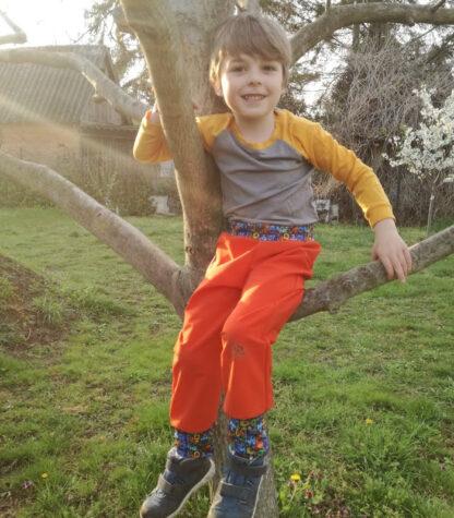 Detské merino softshellové nohavice