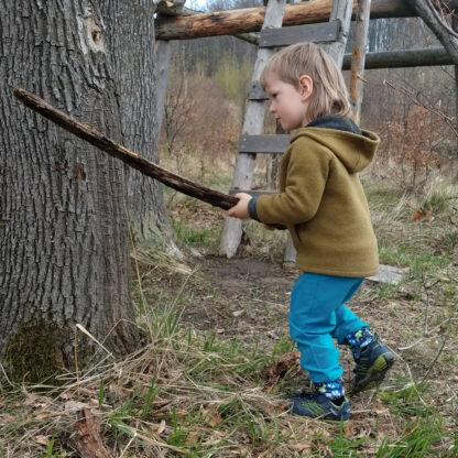Detské outdoorové nohavice merino softshell