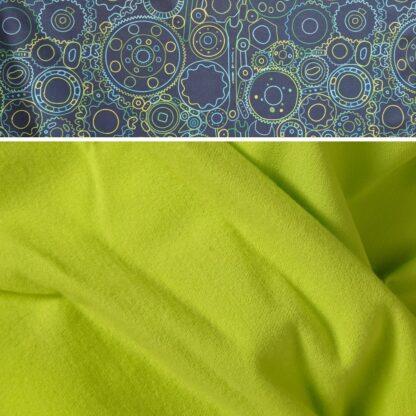 Softshell nohavice s merino vlnou neónová žltá - kolieska