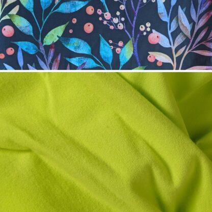 Merino softshell nohavice pre deti neónová žltá - kvety