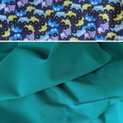 Merino softshell nohavice morský tyrkys - autá