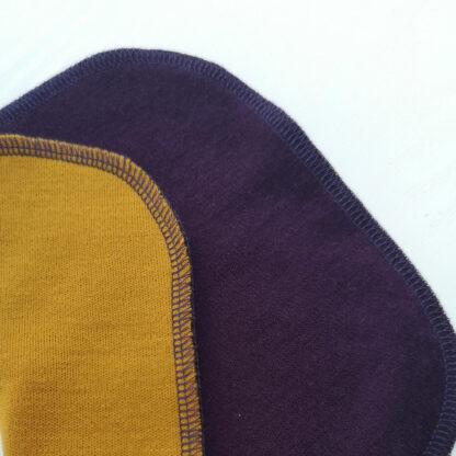 Merino deka Šindliarka - horčicová - tmavá fialová