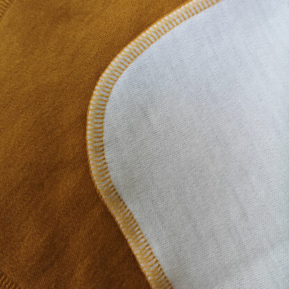 Merino deka Šindliarka - horčicová - natural krémová