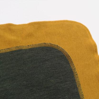Merino deka Šindliarka - horčicová - olivová zelená