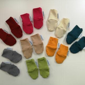 Novorodenecké merino rukavičky tenké farby
